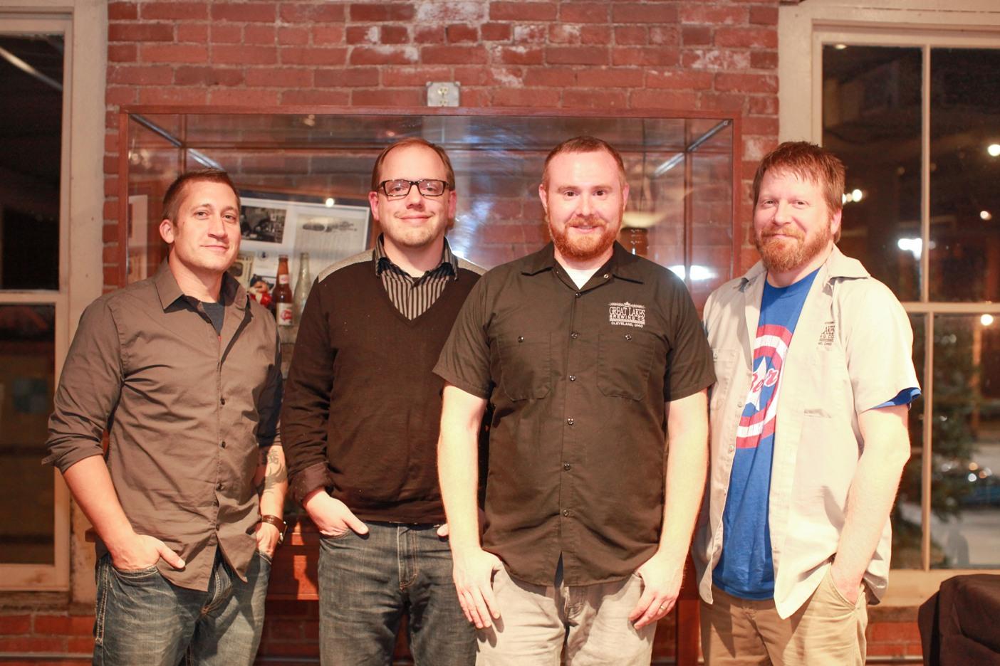 John Dudas, Brad Ricaa, Joel Warger and Jefferson West